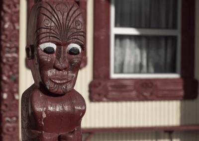 Whakairo outside Hinengākau wharenui